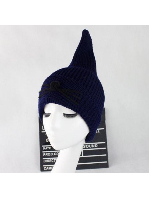 hot Warm Cat Beard Shark Fin Shape Knit Hat - CADETBLUE  Mobile
