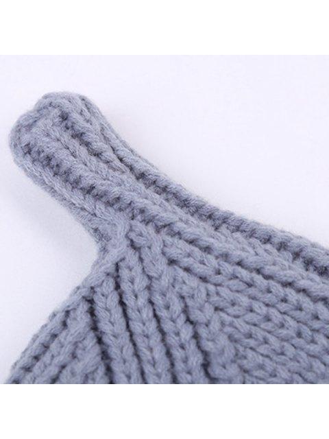 shop Winter Teat Shape Knit Hat - CADETBLUE  Mobile