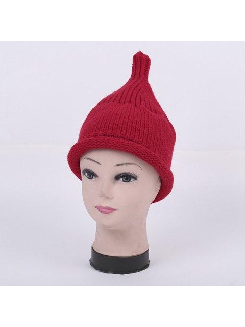 shops Winter Teat Shape Knit Hat - RED  Mobile