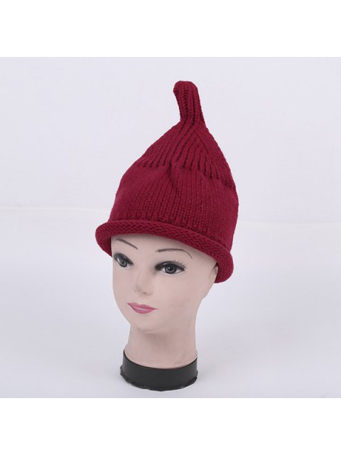 latest Winter Teat Shape Knit Hat - WINE RED  Mobile