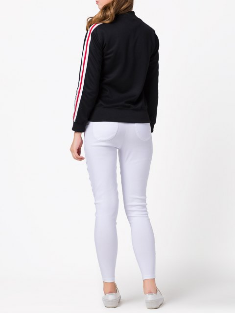 women Sports Zip-Up Jacket - BLACK 2XL Mobile
