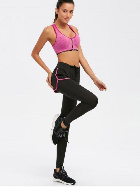 affordable Zipper Bra and Bodycon Yoga Leggings - TUTTI FRUTTI L Mobile