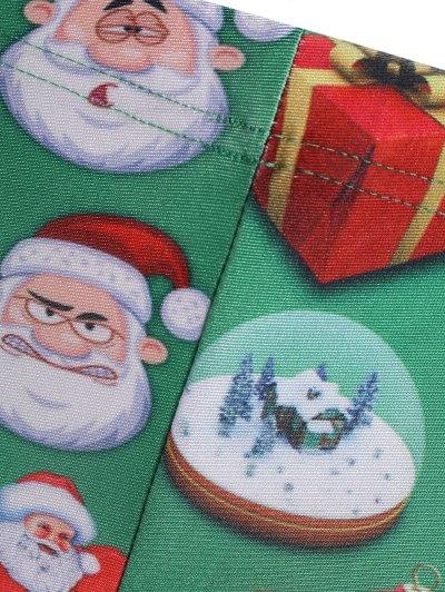 Santa Claus Skinny Leggings - GREEN M Mobile