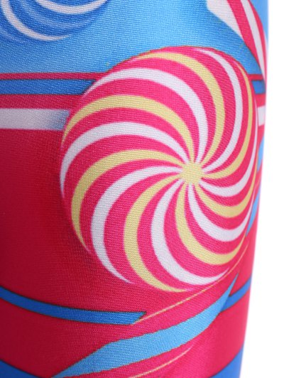 Skinny Lollipop Pattern Leggings - COLORMIX M Mobile