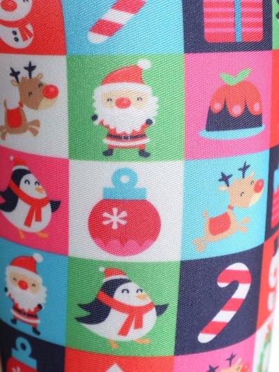 Christmas Snowman Leggings - COLORMIX M Mobile
