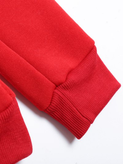 Christmas Fleece Sweatshirt - RED XL Mobile