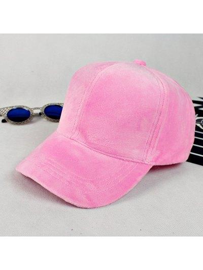 Lovers Adjustable Velvet Baseball Hat - PINK  Mobile