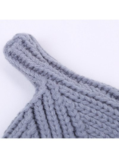 Winter Teat Shape Knit Hat - BRIGHT PINK  Mobile