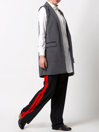 One-Button Waistcoat - GRAY S Mobile
