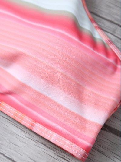 High Neck Gradient Color Bikini - MULTICOLOR L Mobile