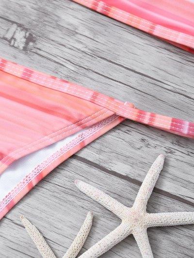 High Neck Gradient Color Bikini - MULTICOLOR S Mobile