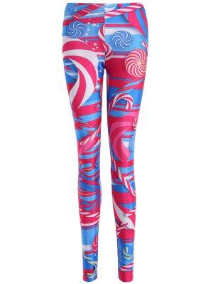 Skinny Lollipop Pattern Leggings