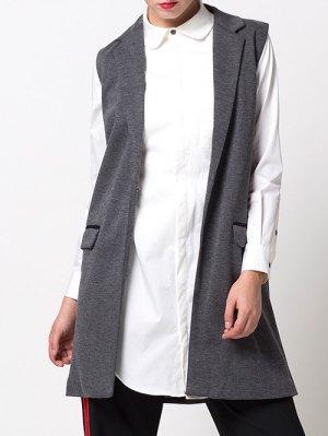One-Button Waistcoat - Gray