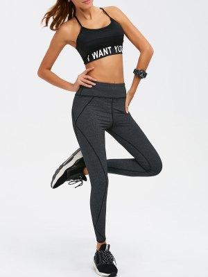 Graphic Bra and Bodycon Yoga Leggings
