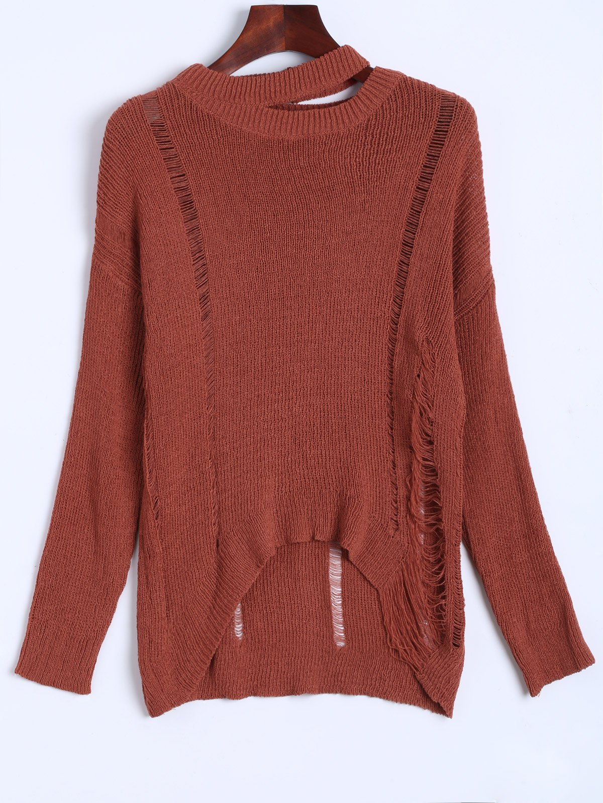 Slouchy Distressed Sweater