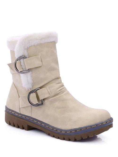 Wrinkled Metal Short Boots