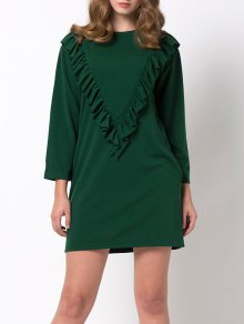 Ruffles Long Sleeve Mini Dress