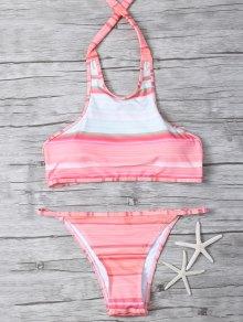 High Neck Gradient Color Bikini