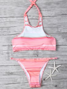 High Neck Gradient Color Bikini