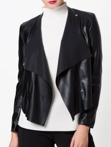 Snap Button Biker Jacket