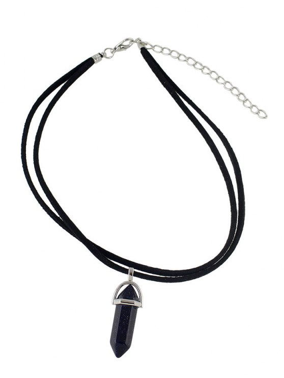 Faux Gem Bullet Choker - BLACK  Mobile