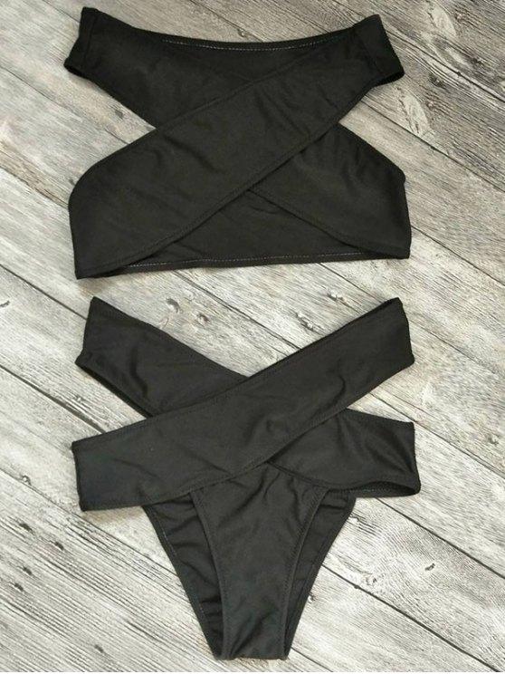hot Cut Out Bandage Bikini Set - BLACK M