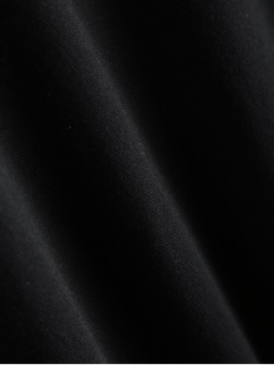 Gesture Graphic Pullover Sweatshirt - BLACK L Mobile