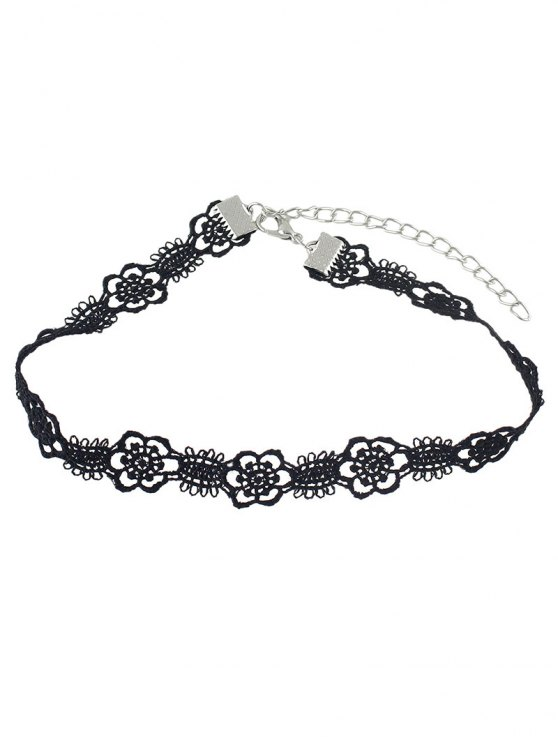 Concise Floral Openwork Lace Choker -   Mobile