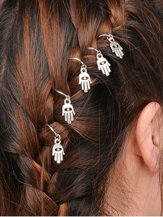 lady 5 PCS Hand Devil Eye Hair Accessory - SILVER