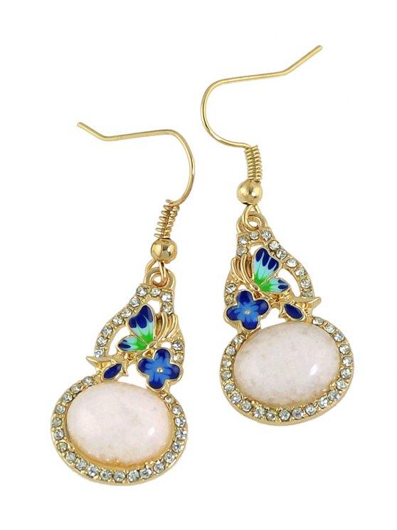 Faux Pearl Ombre Enamel Jewelry Set -   Mobile