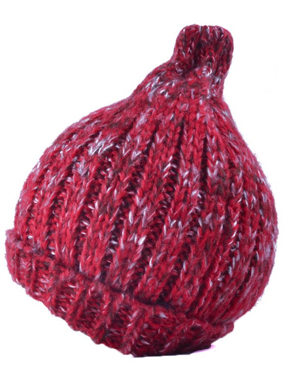 Knitting Patterns Chunky Crochet Tapered Hat - RED  Mobile