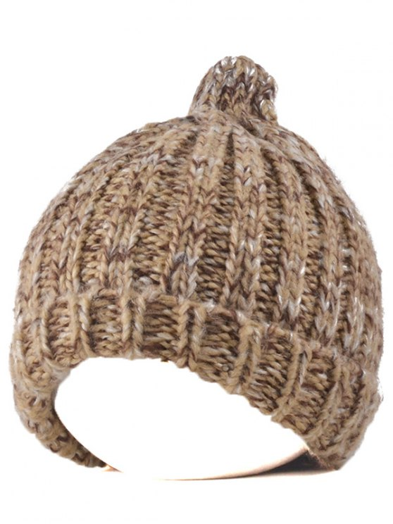 Knitting Patterns Chunky Crochet Tapered Hat - KHAKI  Mobile