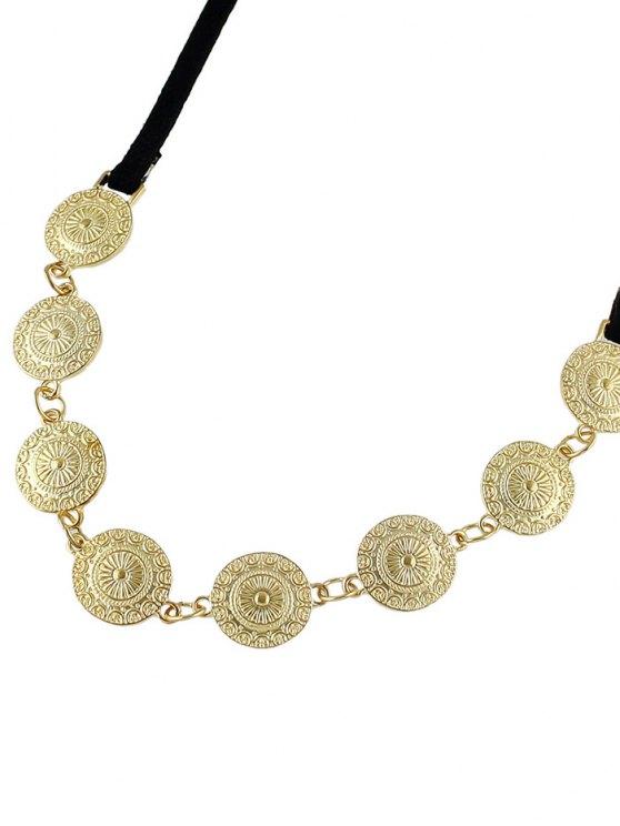 Tie Velvet Bar Round Alloy Necklace -   Mobile