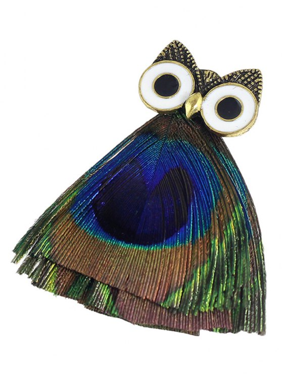 Owl Animal Enamel Brooch -   Mobile