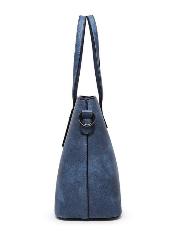 Stitching Metal Embellished Shoulder Bag -   Mobile