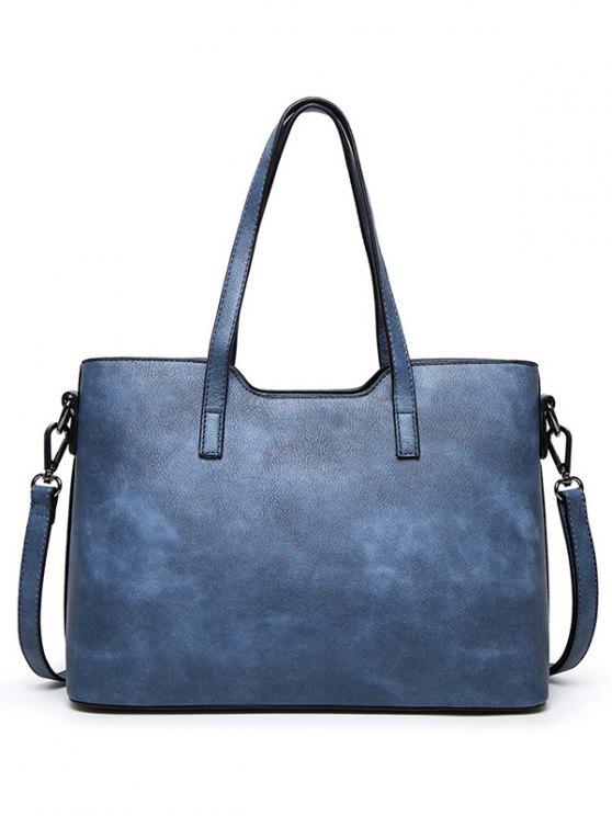 Stitching Metal Embellished Shoulder Bag - PINK  Mobile