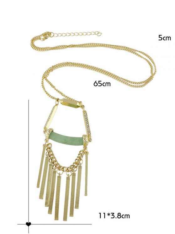 Hollow Geometric Necklace -   Mobile
