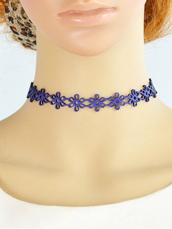 Hollow Floral Choker Necklace -   Mobile