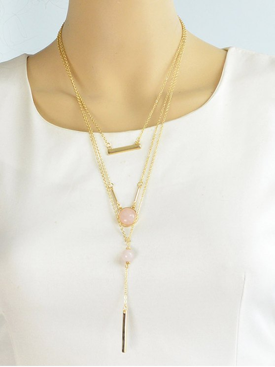 Bar Layered Necklace -   Mobile