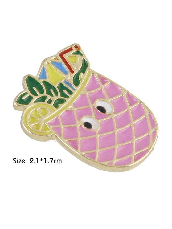 Adorn Pineapple Brooch - PINK  Mobile