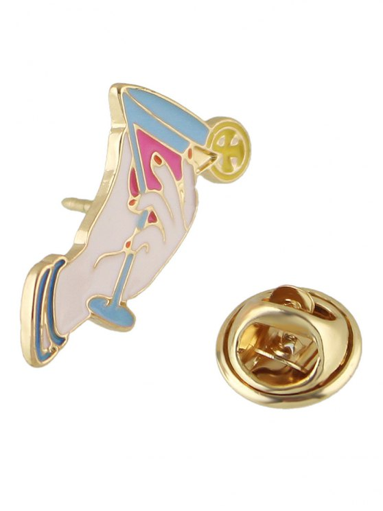 new Adorn Cup Brooch - WHITE