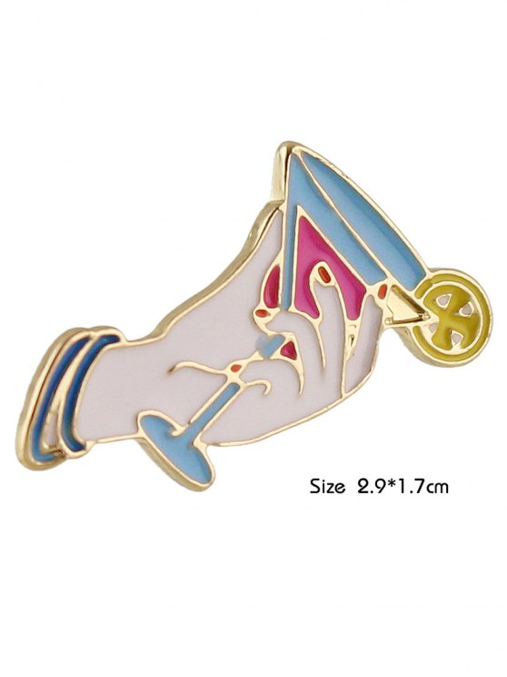 Adorn Cup Brooch - WHITE  Mobile