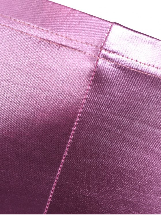 Faux Leather Gilding Leggings - PINK ONE SIZE Mobile