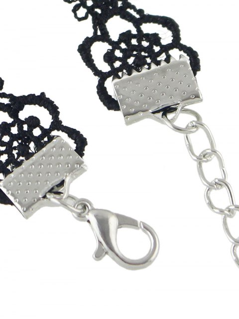 shop Concise Floral Openwork Lace Choker -   Mobile