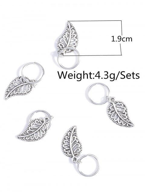 online 5 PCS Adorn Leaves Hair Accessory - SILVER  Mobile