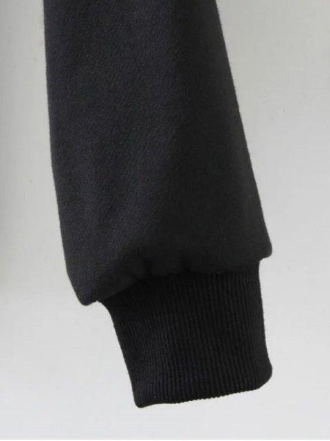 buy Streetwear Letter Loose Sweatshirt - BLACK S Mobile