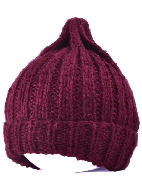 fancy Knitting Patterns Chunky Crochet Tapered Hat - WINE RED  Mobile