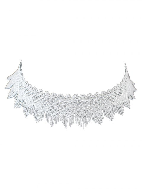 sale Concise Geometry Tassel Lace Choker -   Mobile
