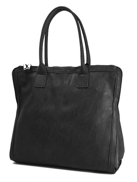 new Retro PU Leather Handbag - BLACK  Mobile