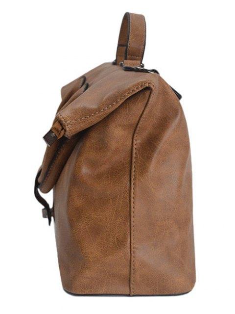 outfits Fold Over PU Leather Handbag - BROWN  Mobile
